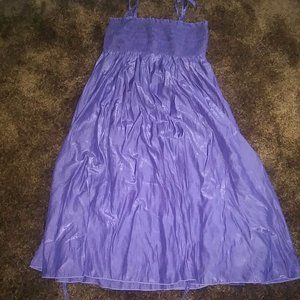 Do & Be Shoulder Off Purple Dress.tie the skirt M